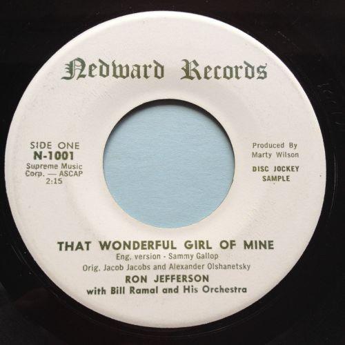 Ron Jefferson - That wonderful girl of mine - Nedward - Ex