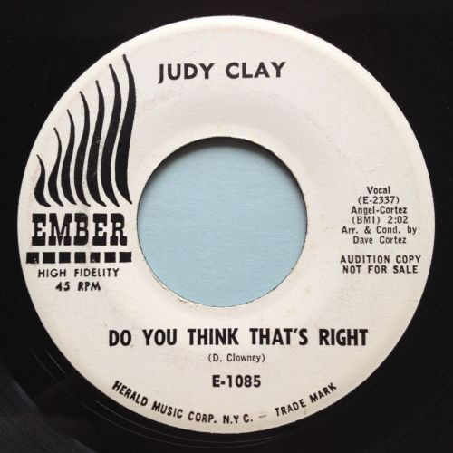 Judy Clay - Do you think that's right - Ember promo - Ex