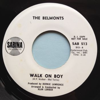 Belmonts - Walk on boy - Sabina promo - Ex