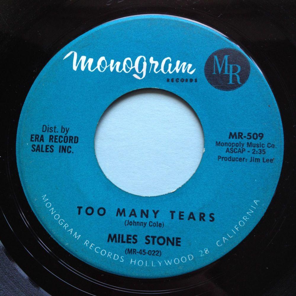 Miles Stone - Too many tears - Monogram - Ex-