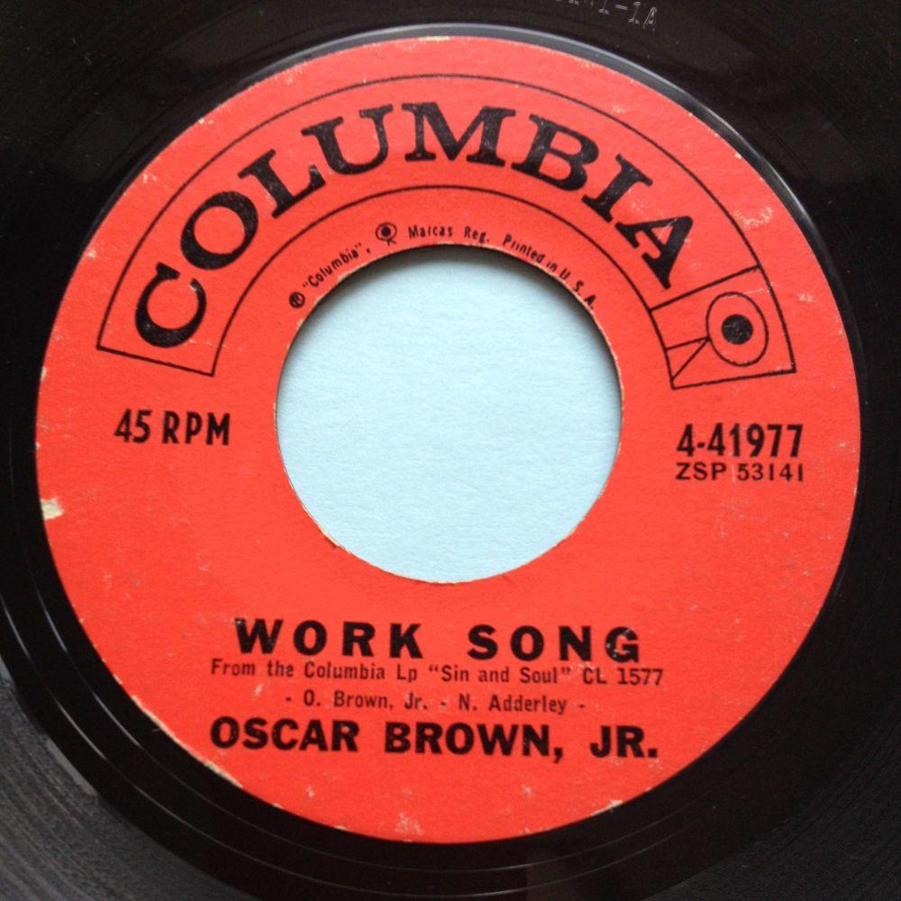 Oscar Brown Jr - Work song - Coumbia - VG+