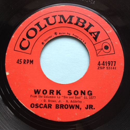 Oscar Brown Jr - Work song - Coumbia - VG+