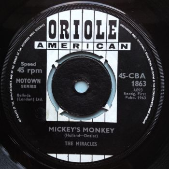 Miracles - Mickey's Monkey b/w Whatever makes you happy - U.K. Oriole - Ex
