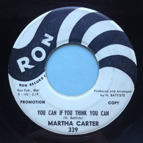 Martha Carter - You can if you think you can - Ron promo - VG+
