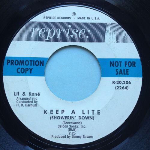Lil & Rene - Keep a lite - Reprise promo - VG+