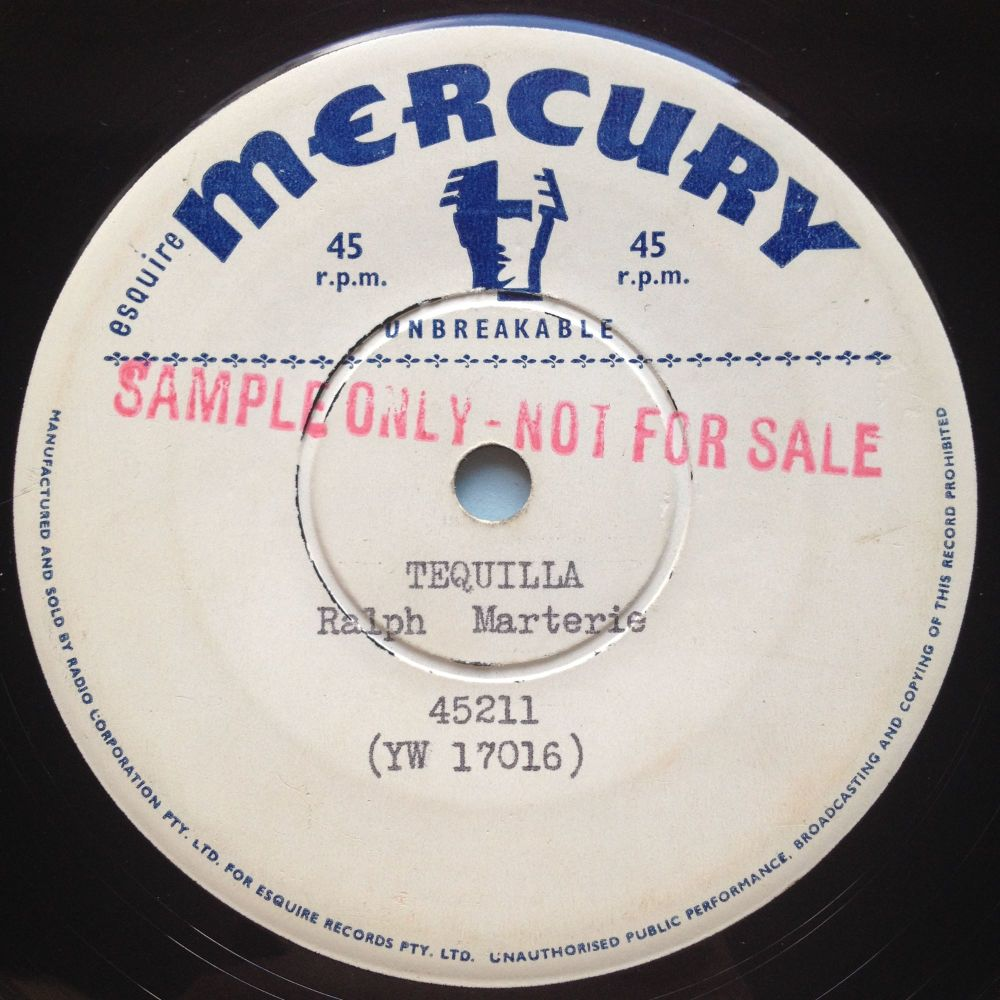Ralph Marterie - Tequilla - Mercury sample - Ex