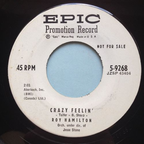 Roy Hamilton - Crazy Feelin' - Epic promo - Ex