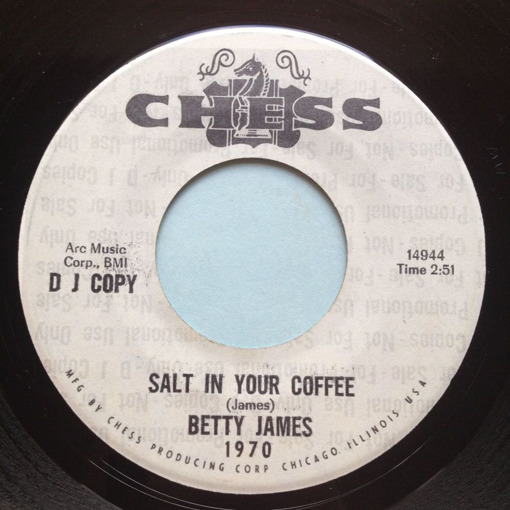 Betty James - Salt in your coffee b/w I like the way you walk - Chess promo