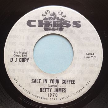 Betty James - Salt in your coffee b/w I like the way you walk - Chess promo - Ex