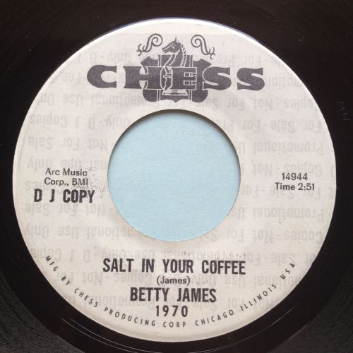 Betty James - Salt in your coffee b/w I like the way you walk - Chess promo