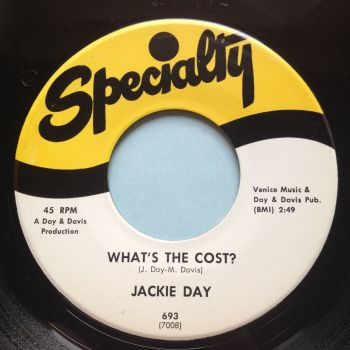 Jackie Day - What's the cost - Specialty - Ex
