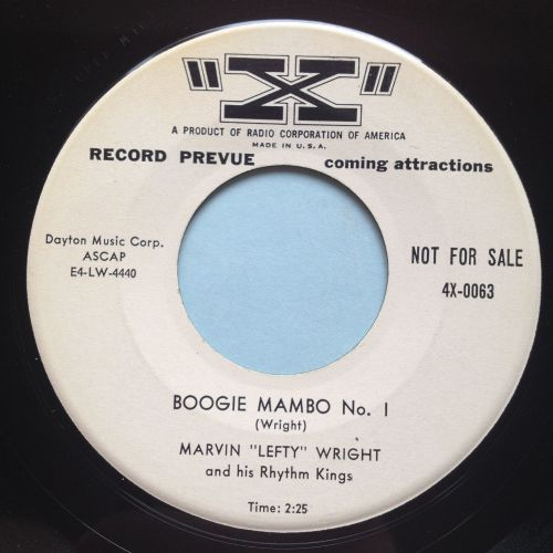 Marvin 'Lefty' Wright - Boogie Mambo No. 1 - X (promo) - Ex