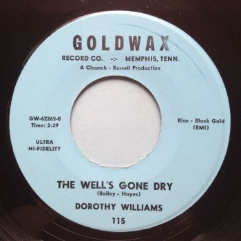 Dorothy Williams - The well's gone dry - Goldwax - Ex