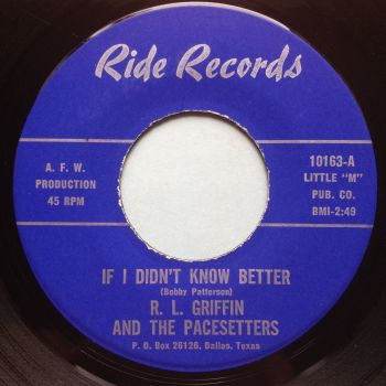 R L Griffin - If I didn't know better - Ride - VG+