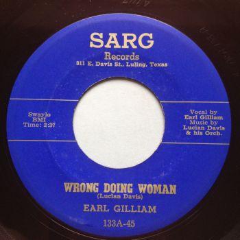 Earl Gilliam - Wrong doing woman - Sarg - Ex