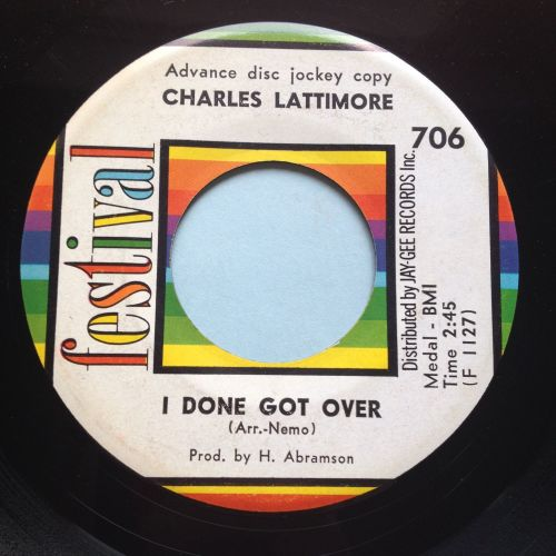 Charles Lattimore - I done got over - Festival - Ex-