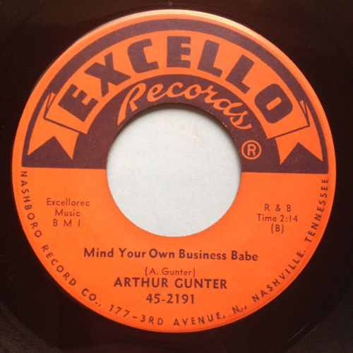 Arthur Gunter - Mind your own business babe - Excello - Ex
