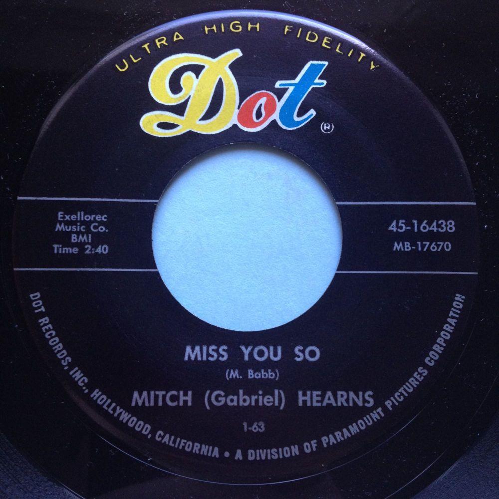 Mitch Hearns - Miss you so / Horseradish - Dot - Ex