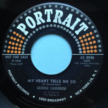 George Cameron - My heart tells me so - Portrait - Ex