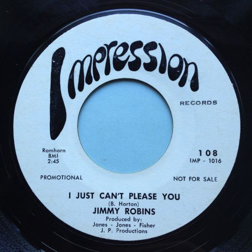 Jimmy Robins - I just can't please you - Impression promo - VG+