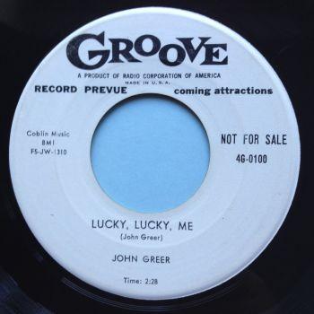 John Greer - Lucky lucky me - Groove promo - Ex-