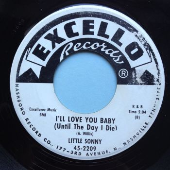 Little Sonny - I'll love you baby b/w Love shock - Excello promo - Ex-
