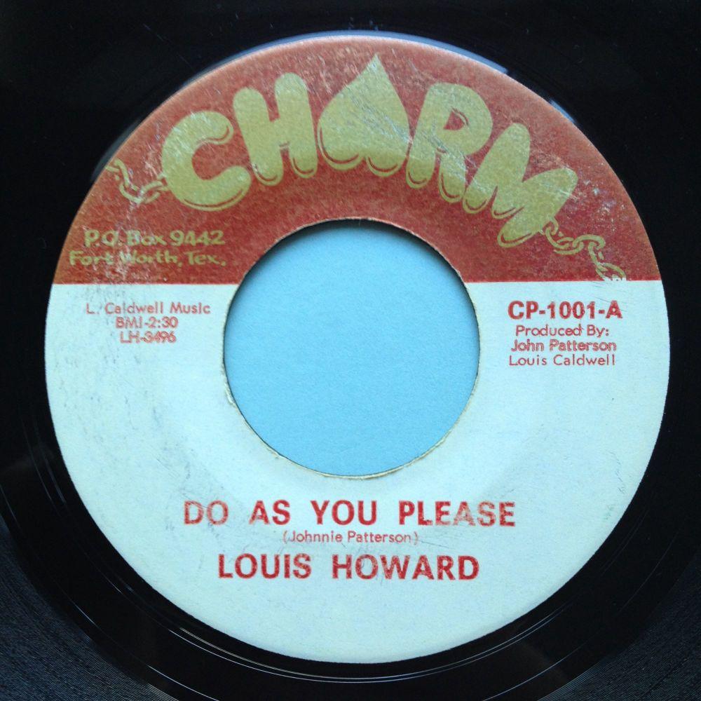 Louis Howard - Do as you please - Charm - VG+