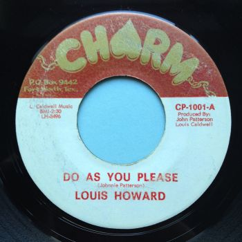 Louis Howard - Do as you please - Charm - VG+