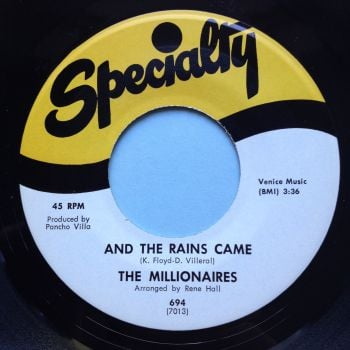 Millionaires - And the rains came - Specialty - Ex