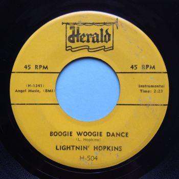 Lightnin' Hopkins - Boogie Woogie Dance - Herald - Ex-