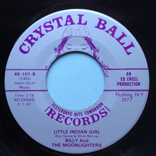 Billy & Moonlighters -Little Indian Girl - Crystal Ball - Ex