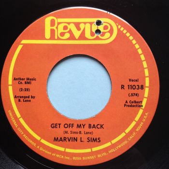 Marvin L Sims - Get off my back - Revue - Ex-