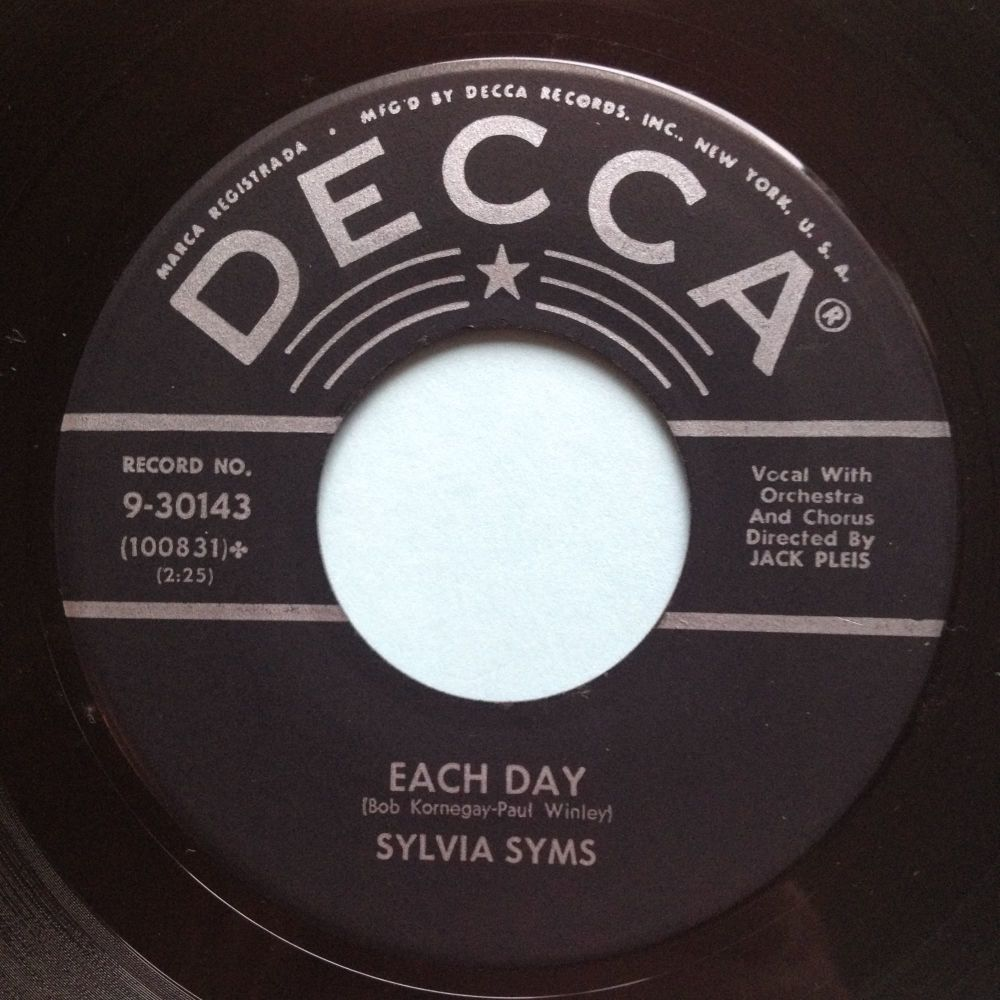 Sylvia Syms - Each day - Decca - Ex