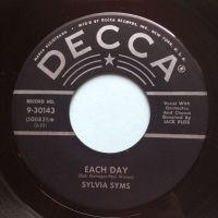 Sylvia Syms - Each day - Decca - Ex