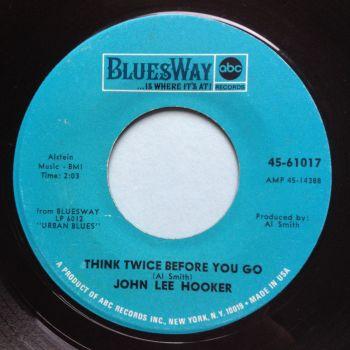 John Lee Hooker - Think twice before you go - Bluesway - Ex-