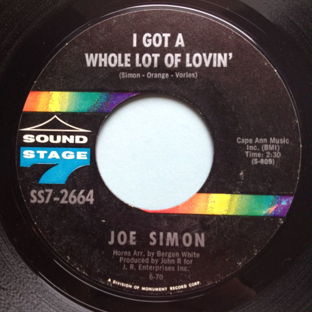 Joe Simon - I got a whole lot of lovin - Sound Stage 7 - Ex