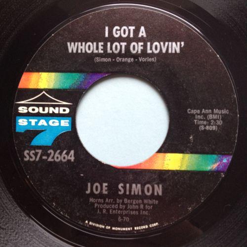 Joe Simon - I got a whole lot of lovin - Sound Stage 7 - Ex
