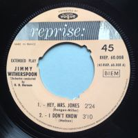 Jimmy Witherspoon - Hey Mrs. Jones E.P. - Reprise (French inc pic sleeve) - VG+ (noc)