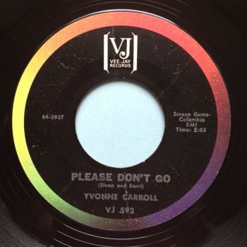 Yvonne Carroll - Please don't go - VJ - Ex-