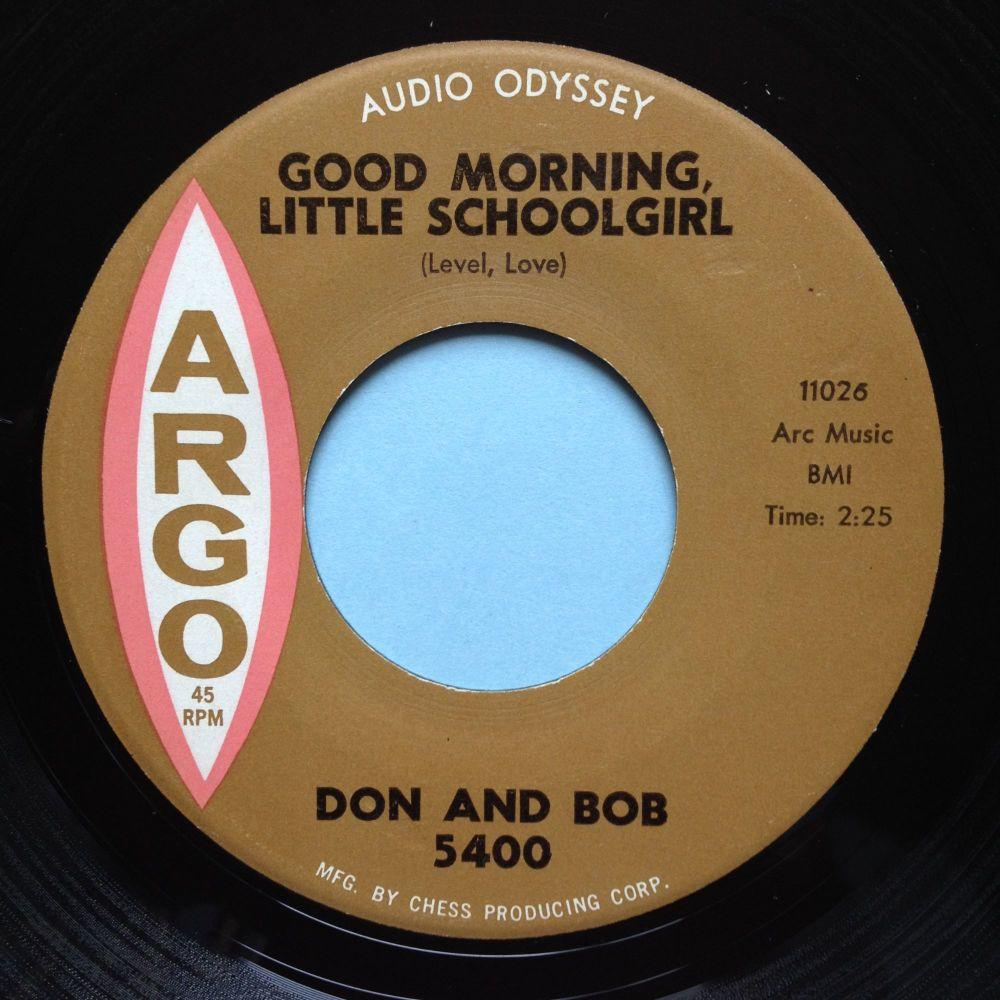 RESERVED MART - Don & Bob - Good morning little schoolgirl - Argo - M-