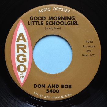 Don & Bob - Good morning little schoolgirl - Argo - Ex-