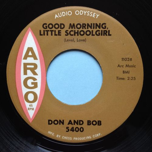 RESERVED MART - Don & Bob - Good morning little schoolgirl - Argo - M-