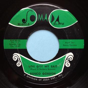 Rosco Gordon - You got my bait b/w Jessie James - Jomada - VG+