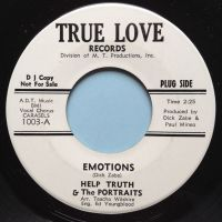 Help Truth & the Portraits - Emotions - True Love  promo - Ex