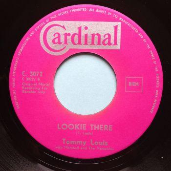 Tommy Louis - Lookie Lookie b/w Wail baby wail - Cardinal - Ex-