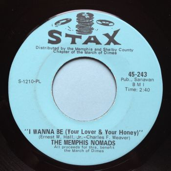 Memphis Nomads - I wanna be (your lover & your honey) b/w Don't pass your judgement - Stax - Ex
