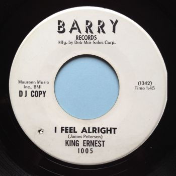 King Ernest - I feel alright b/w Hold it baby - Barry promo - Ex