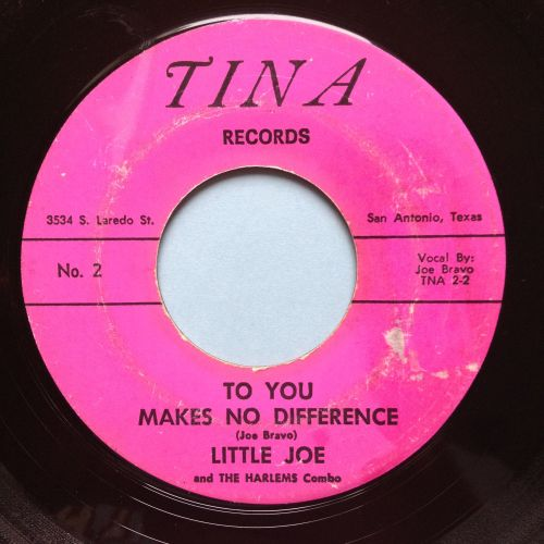 Little Joe & the Harlems Combo - To you makes no difference - Tina - VG+