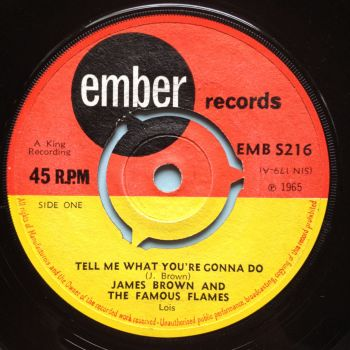 James Brown - Tell me what you're gonna do - Ember - Ex