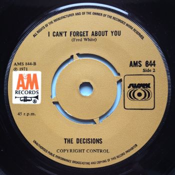 Decisions - I can't forget about you - A&M (U.K.) - Ex